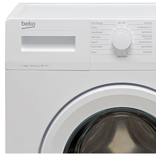 Beko WTG641M3W 6Kg Washing Machine - White - WTG641M3W_WH - 2