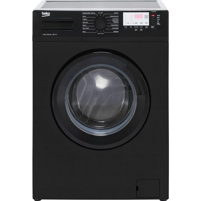 Beko WTG721M1B 7Kg Washing Machine with 1200 rpm - Black - A+++ Rated - WTG721M1B_BK - 1