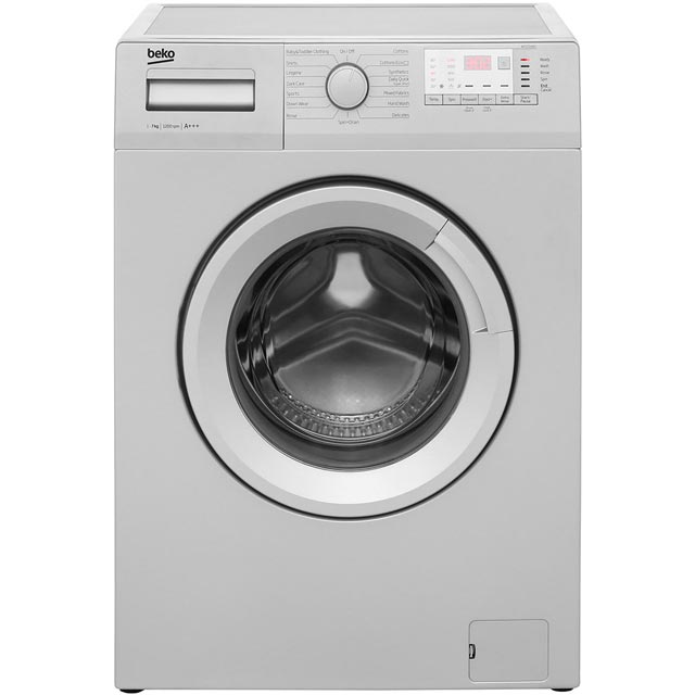 Beko WTG721M1S 7Kg Washing Machine with 1200 rpm - Silver - A+++ Rated - WTG721M1S_SI - 1