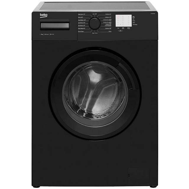 Beko WTG820M1B 8Kg Washing Machine with 1200 rpm - Black - WTG820M1B_BK - 1