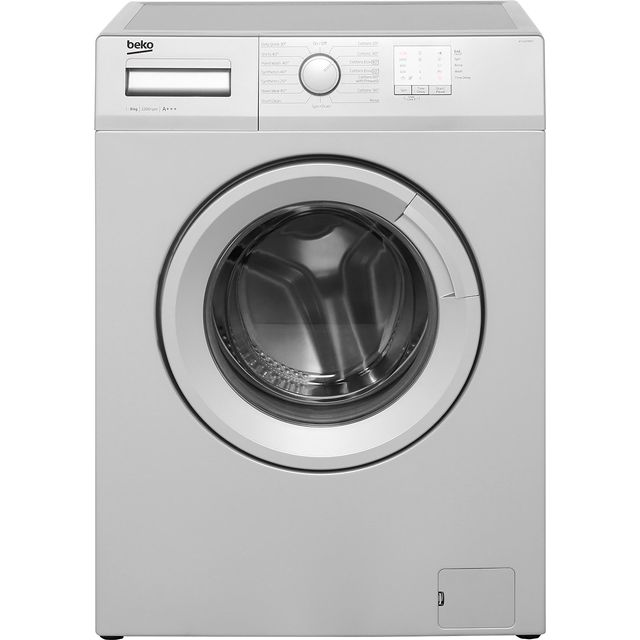 Beko WTG820M1S 8Kg Washing Machine with 1200 rpm - Silver - A+++ Rated - WTG820M1S_SI - 1