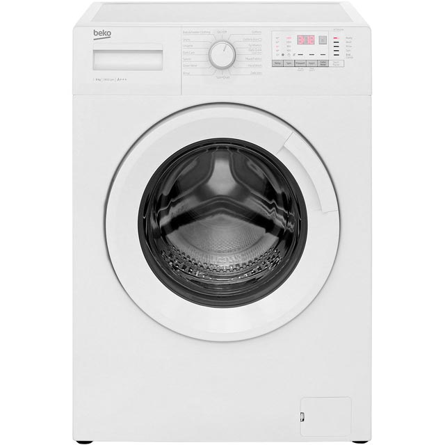 Beko WTG841B2W 8Kg Washing Machine with 1400 rpm - White - A+++ Rated - WTG841B2W_WH - 1