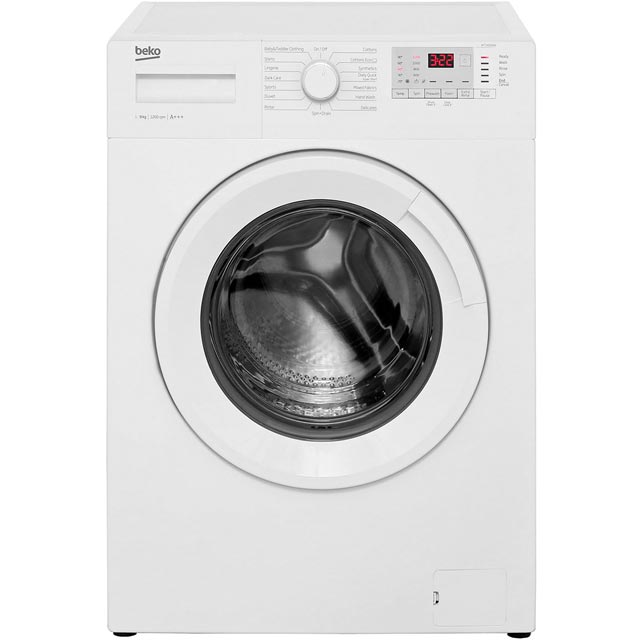 Beko WTG921B2W 9Kg Washing Machine with 1200 rpm - White - A+++ Rated - WTG921B2W_WH - 1