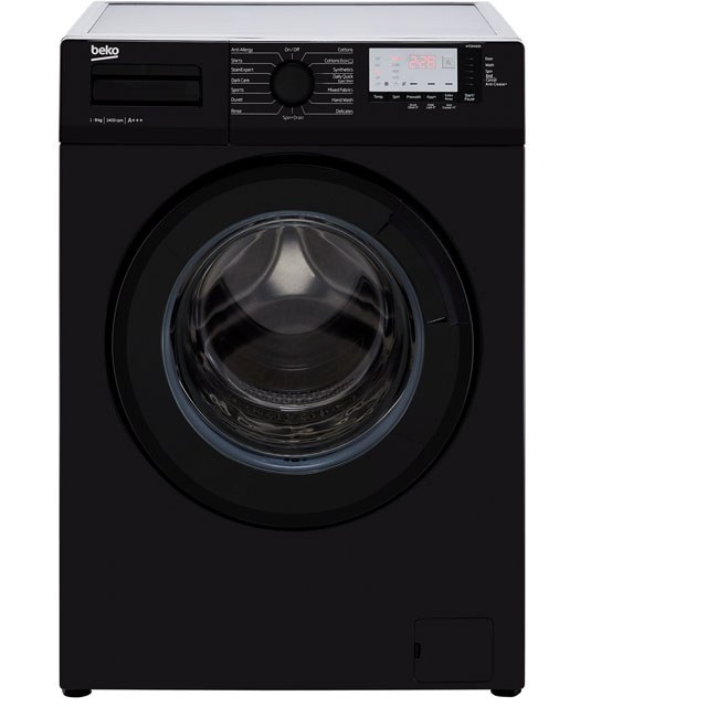 Beko WTG941B3B 9Kg Washing Machine with 1400 rpm - Black - A+++ Rated - WTG941B3B_BK - 1