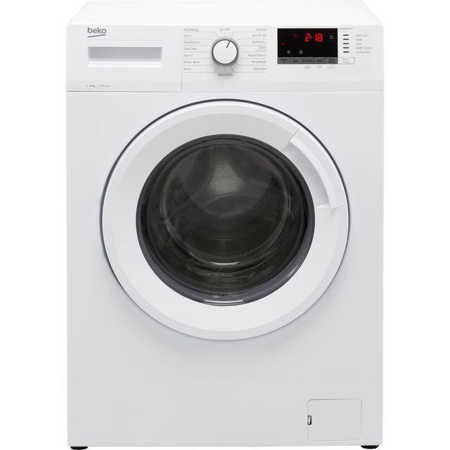 Beko WTK84151W 8Kg Washing Machine with 1400 rpm - White - C Rated