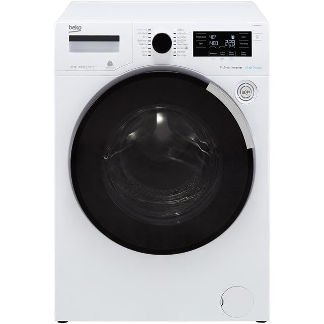 Beko WY104PB44TW 10Kg Washing Machine with 1400 rpm - White - A+++ Rated - WY104PB44TW_WH - 1