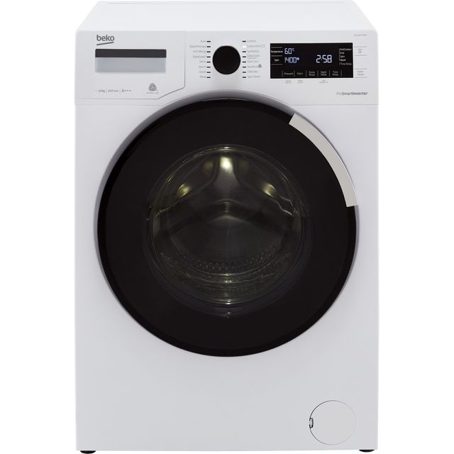 Beko WY124PT44MW 12Kg Washing Machine with 1400 rpm - White - A+++ Rated - WY124PT44MW_WH - 1