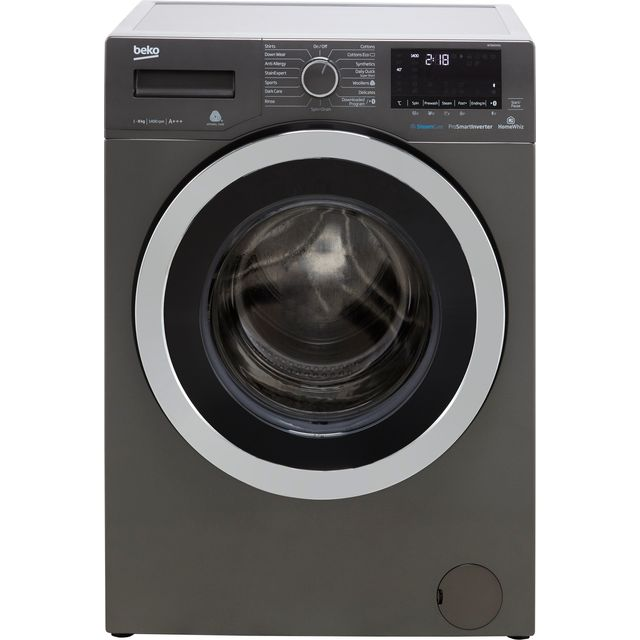 Beko WY84044G 8Kg Washing Machine with 1400 rpm - Graphite - A+++ Rated - WY84044G_GH - 1