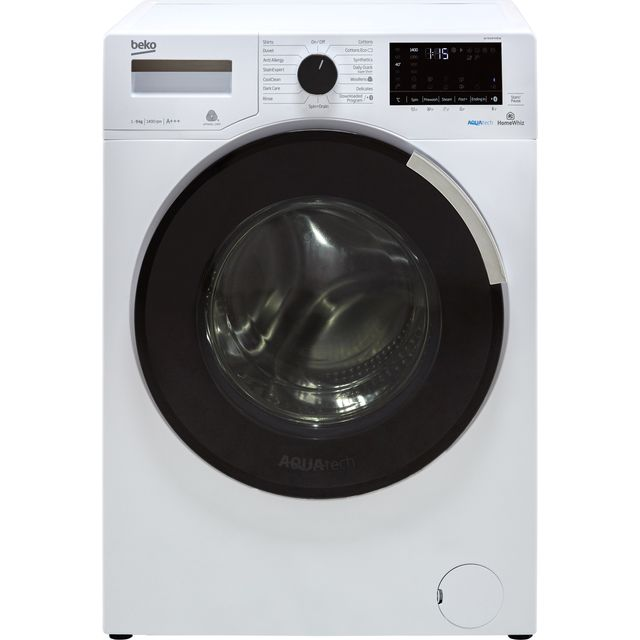 Beko WY940P44EW 9Kg Washing Machine with 1400 rpm - White - A+++ Rated - WY940P44EW_WH - 1