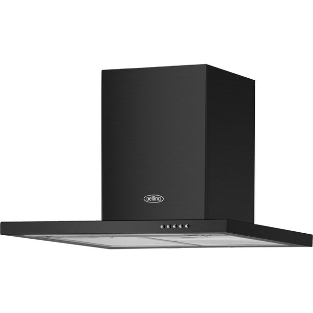 Belling BEL 60 BCH 60 cm Chimney Cooker Hood - Black - BEL 60 BCH_BK - 1