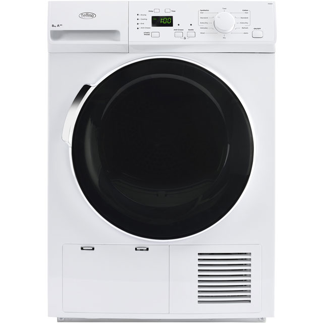 Belling BELFHD800 Free Standing Condenser Tumble Dryer in White