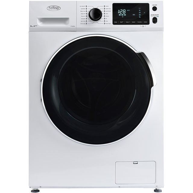 Belling BELFW814 8Kg Washing Machine with 1400 rpm - White - A+++ Rated - BELFW814_WH - 1