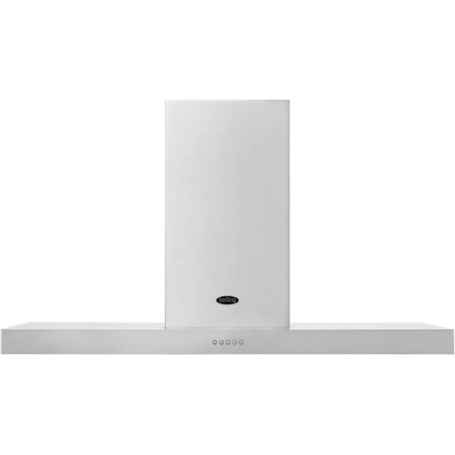 Belling 110DBFLATMK3 110 cm Chimney Cooker Hood - Stainless Steel - D Rated - 110DBFLATMK3_SS - 1