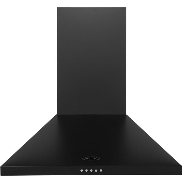 Belling 60CHIM 60 cm Chimney Cooker Hood - Black - E Rated - 60CHIM_BK - 1