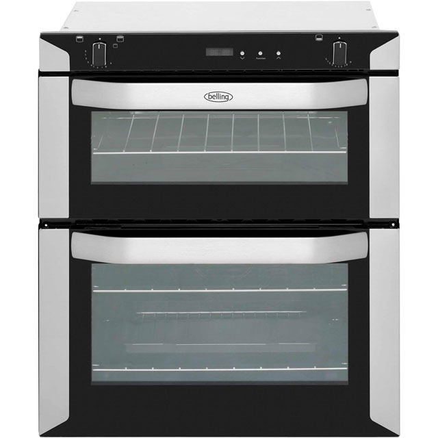 Belling BI70G Built Under Double Oven - Stainless Steel - B/A Rated