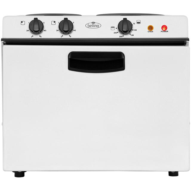 Belling BABY121R Electric Cooker with Solid Plate Hob - White