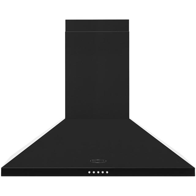 Belling 70 cm Chimney Cooker Hood - Black - E Rated