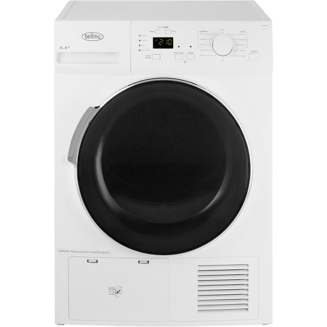 Belling BELFHD800 8Kg Heat Pump Tumble Dryer - White - A++ Rated