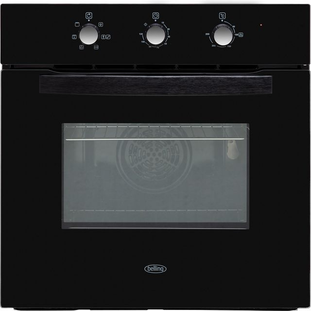 Belling BI602MM Built In Electric Single Oven - Black - A Rated - BI602MM_BK - 1