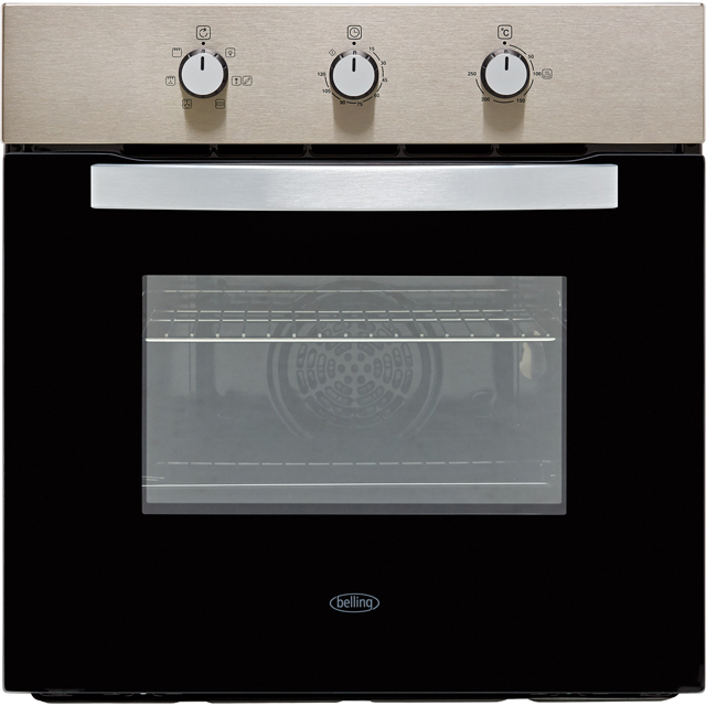 Belling BI602MM Built In Electric Single Oven - Stainless Steel - A Rated - BI602MM_SS - 1
