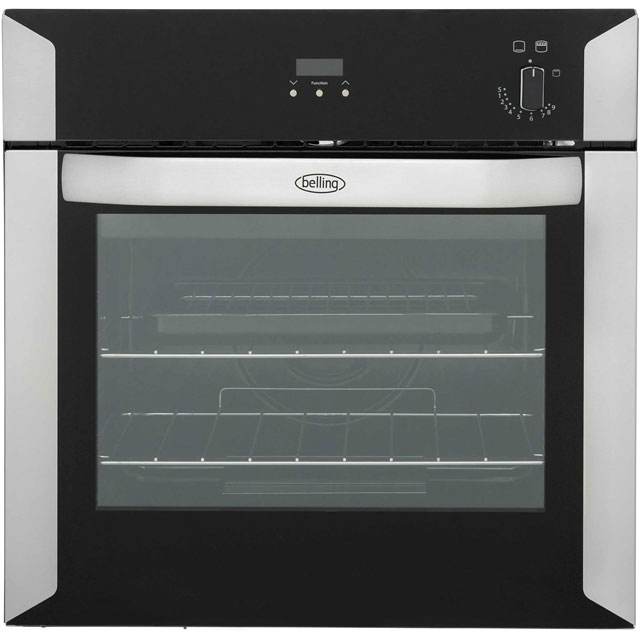 Belling BI60G Built In Gas Single Oven - Stainless Steel - A Rated - BI60G_SS - 1