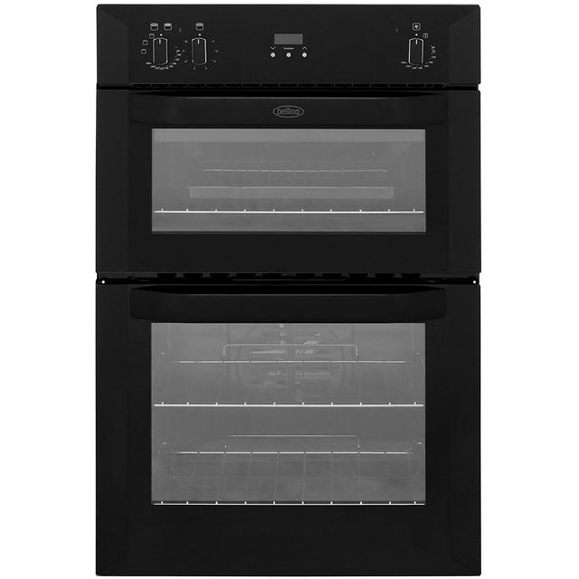 Belling BI90FP Built In Double Oven - Black - A/B Rated