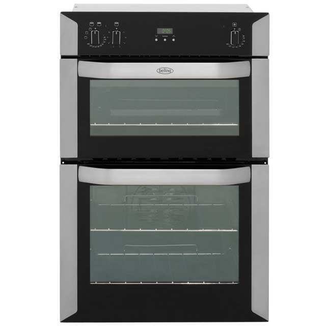 Belling BI90FP Built In Double Oven - Stainless Steel - A/B Rated - BI90FP_SS - 1