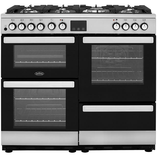 Belling Cookcentre100DFT 100cm Dual Fuel Range Cooker - Stainless Steel - A/A Rated