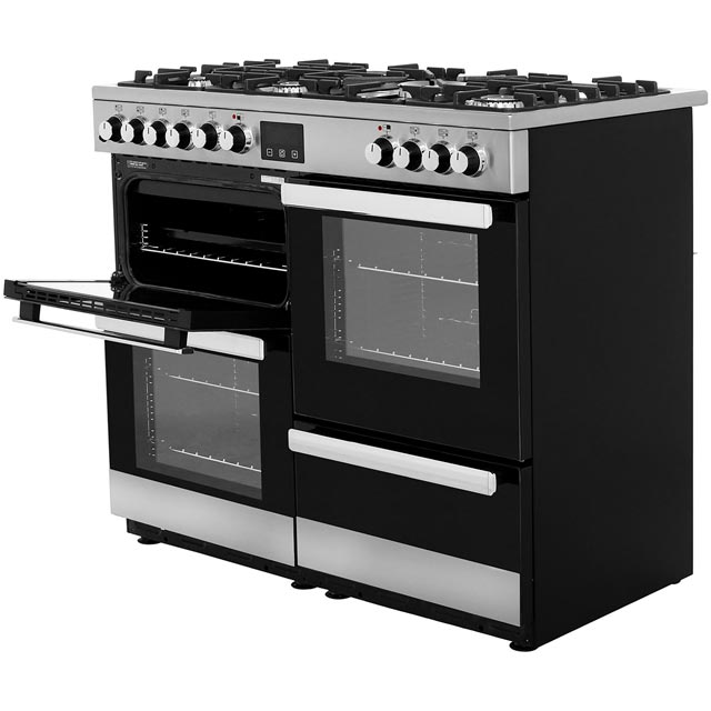 Belling Cookcentre100DFT 100cm Dual Fuel Range Cooker - Stainless Steel - Cookcentre100DFT_SS - 2