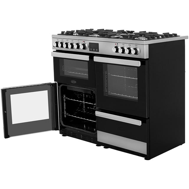 Belling Cookcentre100DFT 100cm Dual Fuel Range Cooker - Stainless Steel - Cookcentre100DFT_SS - 3