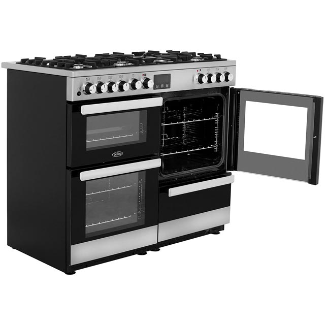 Belling Cookcentre100DFT 100cm Dual Fuel Range Cooker - Stainless Steel - Cookcentre100DFT_SS - 4