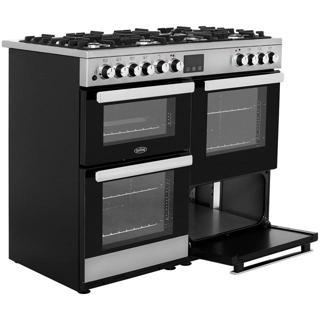 Belling Cookcentre100DFT 100cm Dual Fuel Range Cooker - Stainless Steel - Cookcentre100DFT_SS - 5