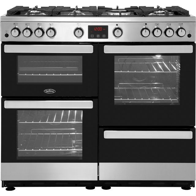 Belling Gas Range Cooker - Stainless Steel - A/A Rated