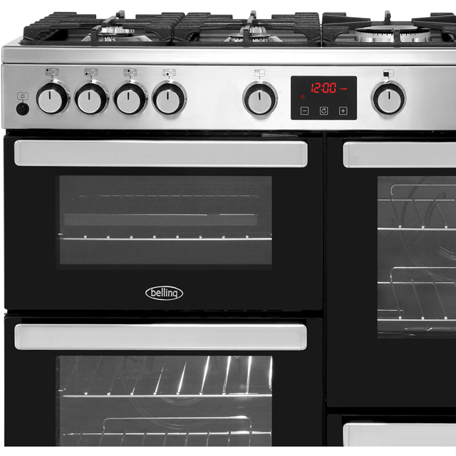 Belling Cookcentre100G Gas Range Cooker - Black - Cookcentre100G_BK - 2