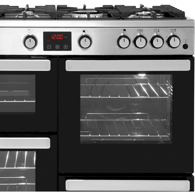 Belling Cookcentre100G 100cm Gas Range Cooker - Black - Cookcentre100G_BK - 3
