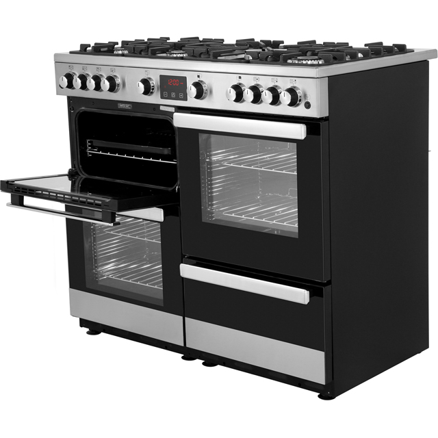 Belling Cookcentre100G Gas Range Cooker - Black - Cookcentre100G_BK - 4