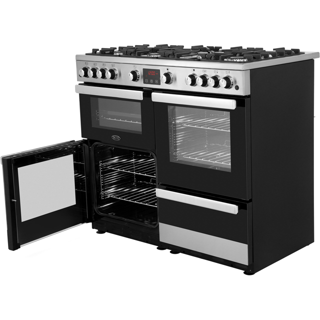 Belling Cookcentre100G Gas Range Cooker - Black - Cookcentre100G_BK - 5
