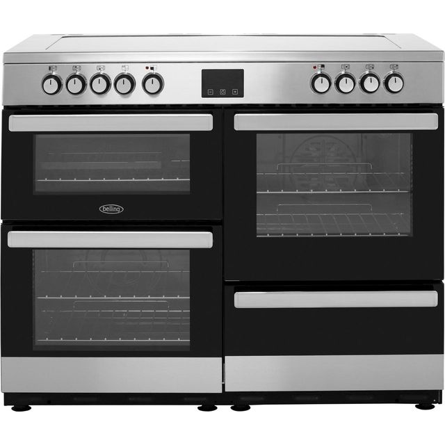 Belling Cookcentre110E 110cm Electric Range Cooker with Ceramic Hob - Stainless Steel - A/A Rated - Cookcentre110E_SS - 1