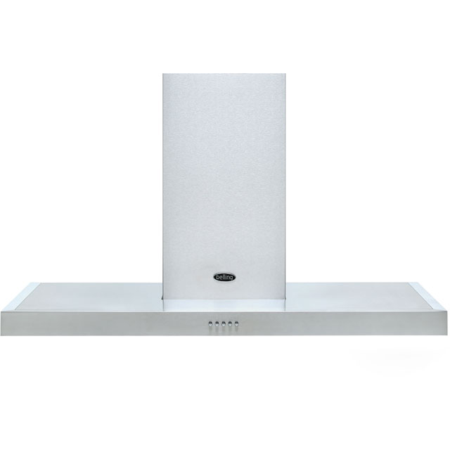 Belling COOKCENTRE 110 FLAT 110 cm Chimney Cooker Hood - Stainless Steel - D Rated - COOKCENTRE 110 FLAT_SS - 1
