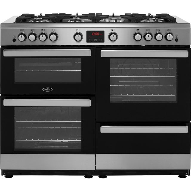 Belling Cookcentre110G 110cm Gas Range Cooker - Stainless Steel - A/A Rated - Cookcentre110G_SS - 1