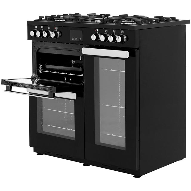 Belling Cookcentre90DFT 90cm Dual Fuel Range Cooker - Stainless Steel - Cookcentre90DFT_SS - 2