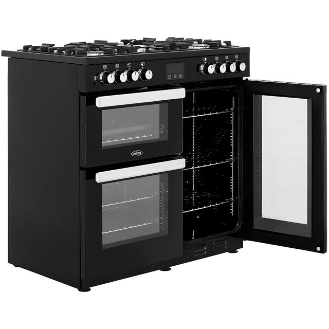 Belling Cookcentre90DFT 90cm Dual Fuel Range Cooker - Stainless Steel - Cookcentre90DFT_SS - 4