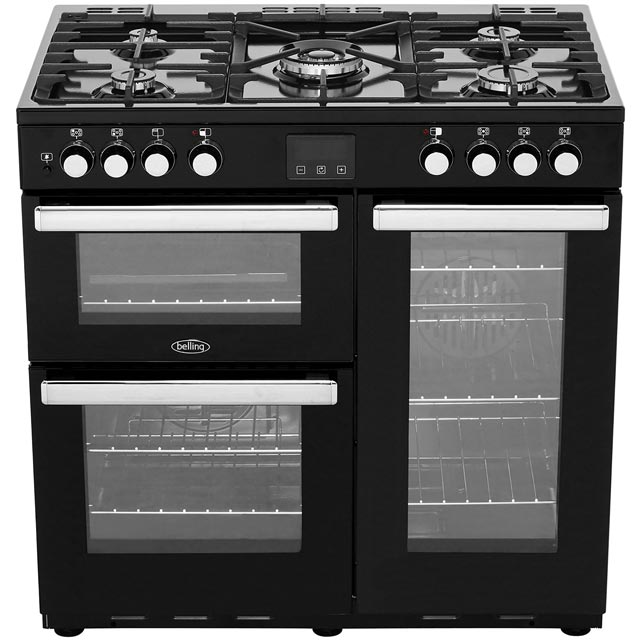 Belling Cookcentre90DFT 90cm Dual Fuel Range Cooker - Stainless Steel - Cookcentre90DFT_SS - 5