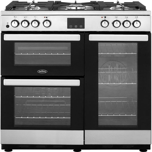 Belling Cookcentre90DFT 90cm Dual Fuel Range Cooker - Stainless Steel - Cookcentre90DFT_SS - 1