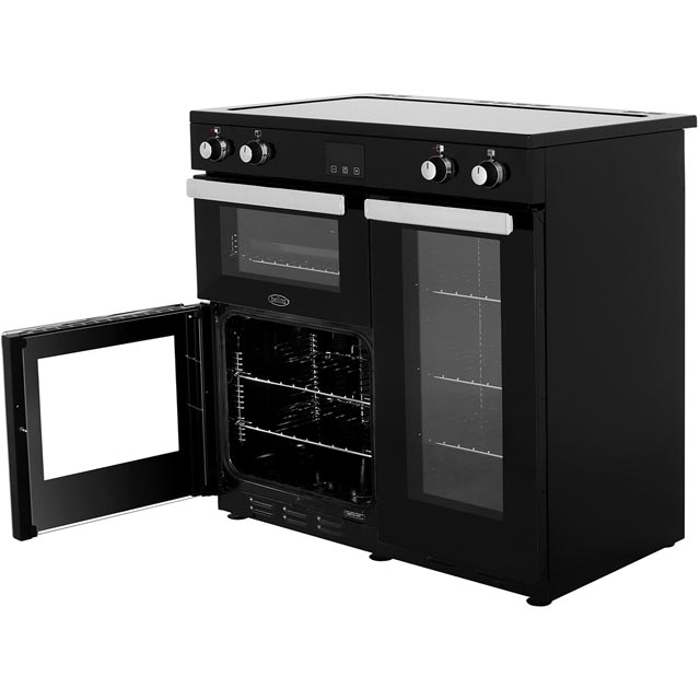 Belling Cookcentre90Ei 90cm Electric Range Cooker - Black - Cookcentre90Ei_BK - 3