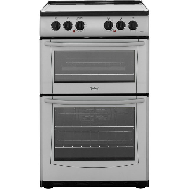 Belling Enfield E552 55cm Electric Cooker with Ceramic Hob - Silver - A/A Rated - E552_SI - 1
