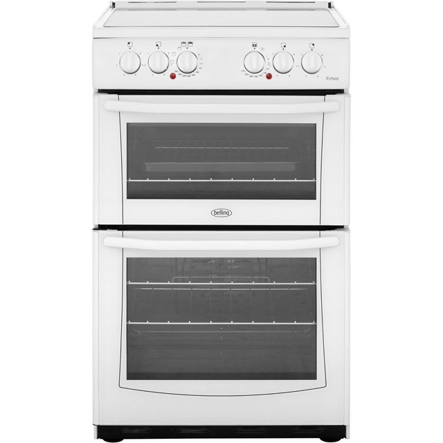 Belling Enfield E552 55cm Electric Cooker with Ceramic Hob - White - A/A Rated - E552_WH - 1