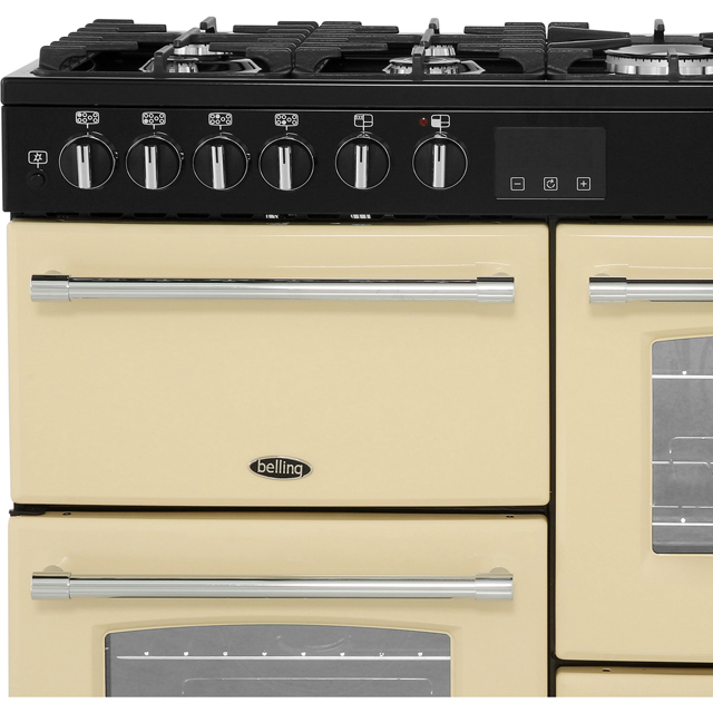 Belling Farmhouse100DF 100cm Dual Fuel Range Cooker - Black - Farmhouse100DF_BK - 3