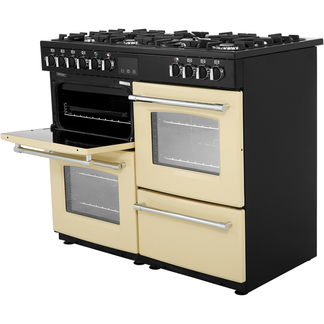 Belling Farmhouse100DF 100cm Dual Fuel Range Cooker - Black - Farmhouse100DF_BK - 4