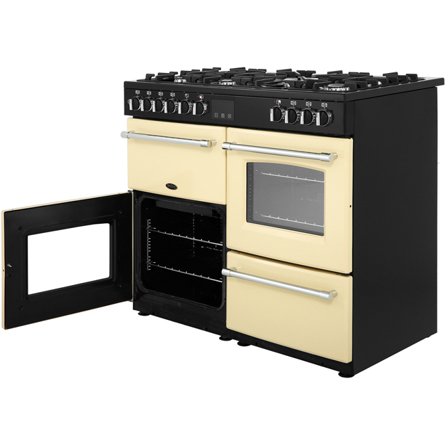 Belling Farmhouse100DF 100cm Dual Fuel Range Cooker - Black - Farmhouse100DF_BK - 5